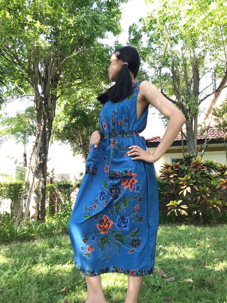 see detail Free size D18 Thai Cotton batik with 2 pockets Discount 20/%--Long Cotton Dress