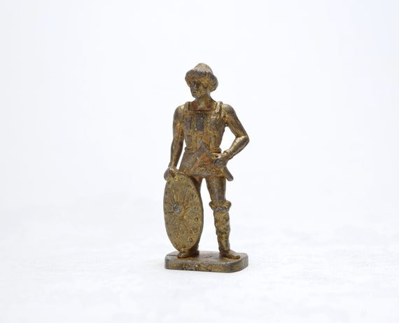 Lead Soldier Soldier Miniature Vintage Soldier Mini Statue Small Soldier Toy Antique Statue Toy Figurine Gold Soldier Soldier Statue