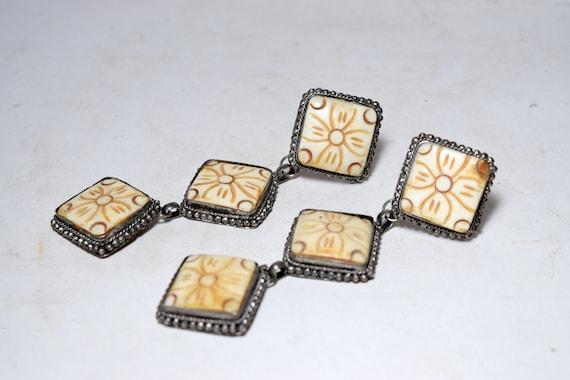 Greek Earrings silver