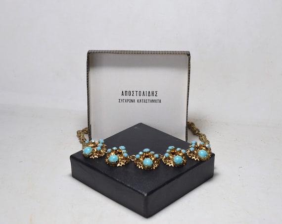 Greek Jewelry,  Byzantine Necklace, Vintage Jewelr