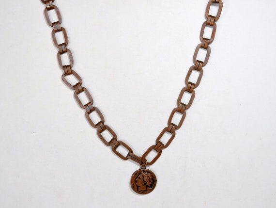 Vintage Coin Pendant, Ottoman Necklace