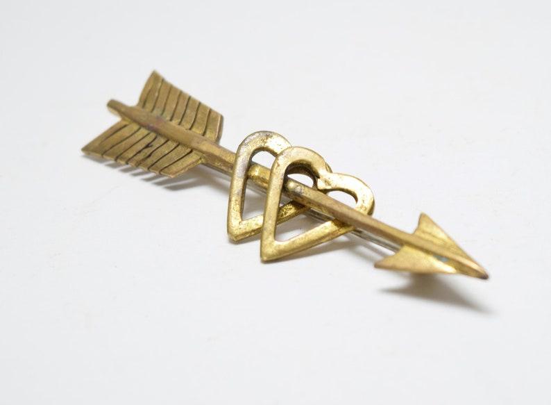 Women/'s Jewelry Gift Vintage Unique Gold Heart Arrow Brooch