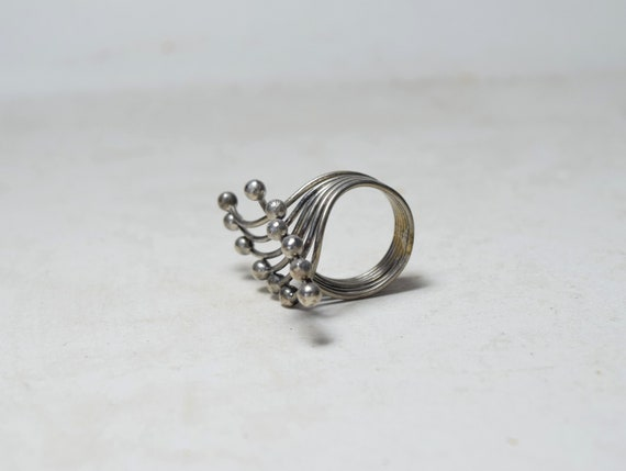 Sterling Silver Ring, Mid Century Ring, Modernist… - image 8
