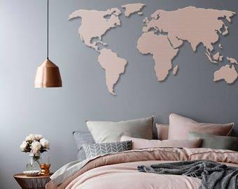Wooden/Acrylic World Wall Map