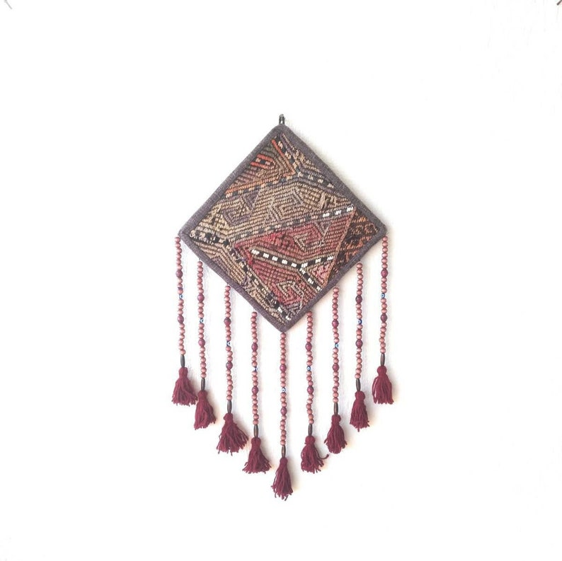 Beaded Wall Hanging Boho Wall Decor Woven Wall Hanging Home Decor Ethnic Wall Decor Wall Art Tassel Wall Hanging Unique Gift For Women