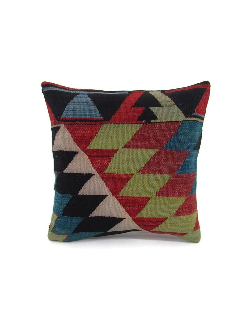 kilim pillow,16x16,vintage,bohemian pillow,turkish,handwoven pillow,throw pillow,accent pillow,home living,home decor,decorative pillow