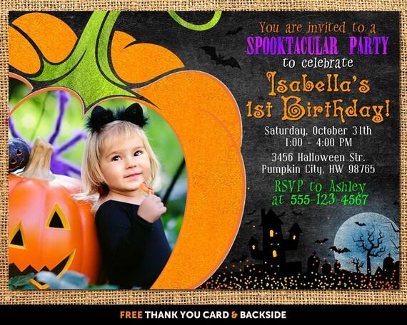 Halloween birthday invitation halloween birthday party etsy image 0 filmwisefo