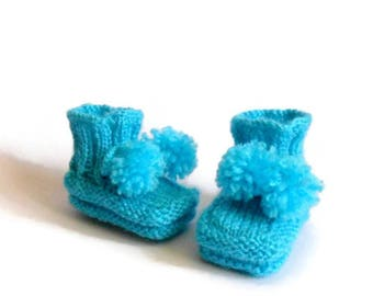 Baby boy shoes, Newborn shoes, Baby shower, Gift for newborn, Knited baby shoes, Baby socks, Mothers day gift, Newborn , 0-3 month, Blue