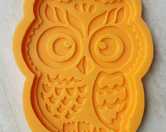 Owl Silicone mold for chocolate, Owl silicone mould for bakery,owl mold for soap, owl Silicone mold for decorations from polymer clay.