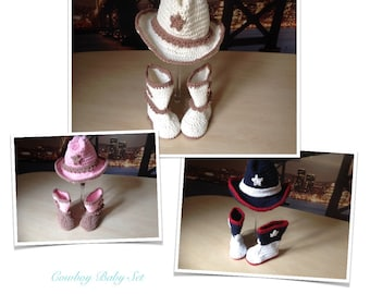 Crochet PATTERN Baby Boots Bootie & Hat Set N 283 Size 0-6 and 6-12 months