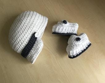 Crochet PATTERN Baby Bootie & Hat Set N 264