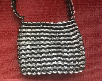 PURSE made of recycled cans - unique caps