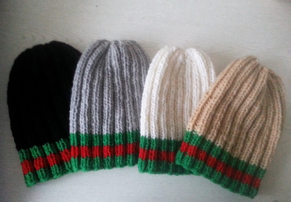 Handmade Knit Hat Gucci Inspired Beanie Hat Knit Winter Hat  3649c9872b1