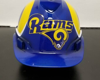LA Rams custom hard hat ed4f3f487