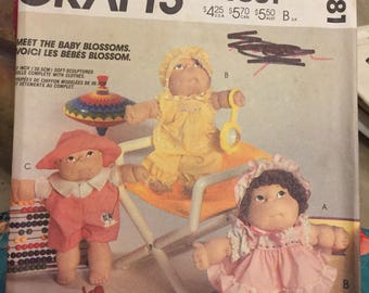 6 Vintage McCall's patterns for Blossom doll babies and clothing - 9581, 9286, 9258, 8866, 9074, 690 - all uncut