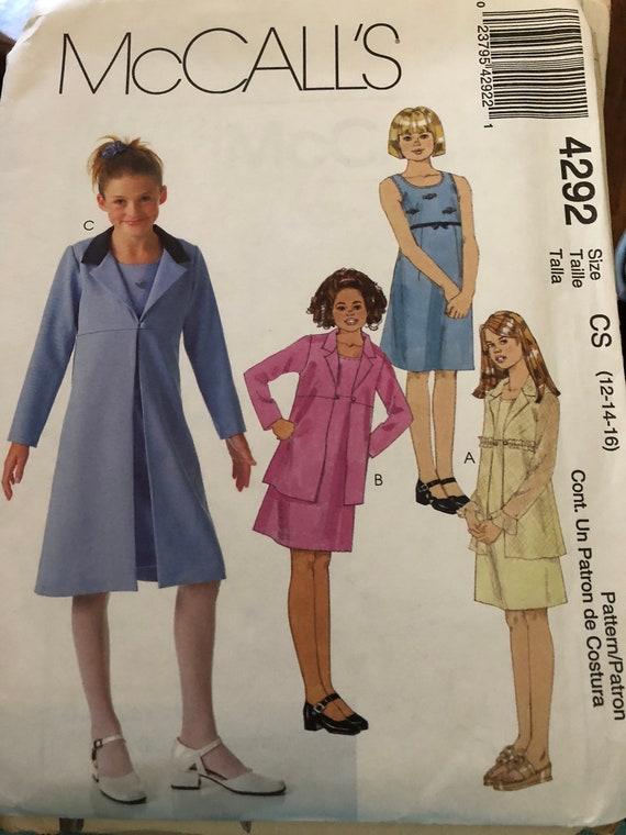 UNCUT Vintage McCalls Pattern Dress Top Skirt Scarf 14