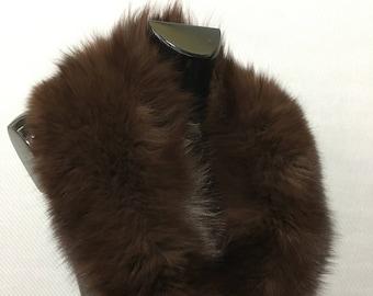 Luxury Brown Fox Fur Collar