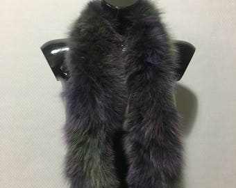 Genuine  Colourful Fox Fur Small Collar