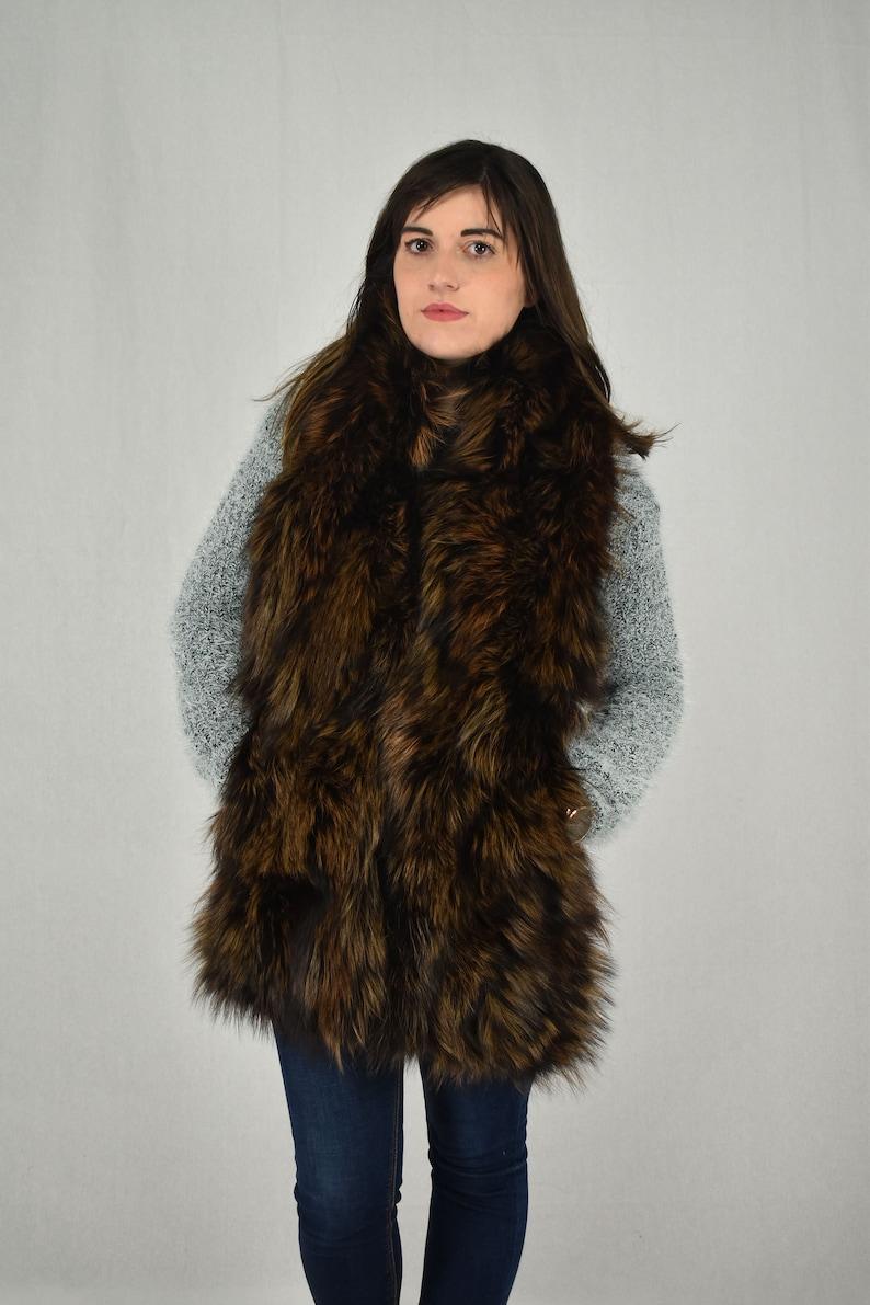 8f3f5dc1a36c Gorgeous Real Natural Big Fox fur Collar Scraft Etol. Top
