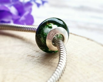 Moss jewellery, botanical resin jewelry, bracelet bead charms, sterling silver gifts, moss bracelets, small gifts for her, real flower resin