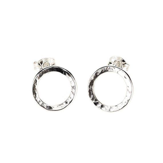099325be1 Hammered Earrings/ Circle Earrings/ Circle Studs/ Minimalist | Etsy