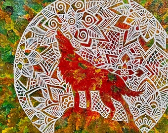 """Animal Spirit! Print of the """"Wolf Song"""" Painting by Bronwen Valentine"""