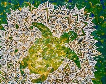 "Animal Spirit! Print of the ""Turtle Spirit"" Painting by Bronwen Valentine"