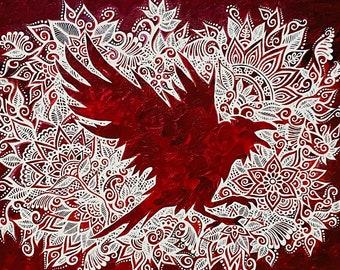 "Animal Spirit! Print of the ""Raven Spirit"" Painting by Bronwen Valentine"