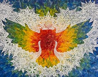 "Animal Spirit!  Print of the ""Owl Spirit"" Painting by Bronwen Valentine"