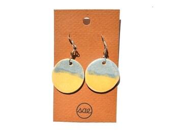 two-toned ceramic earrings