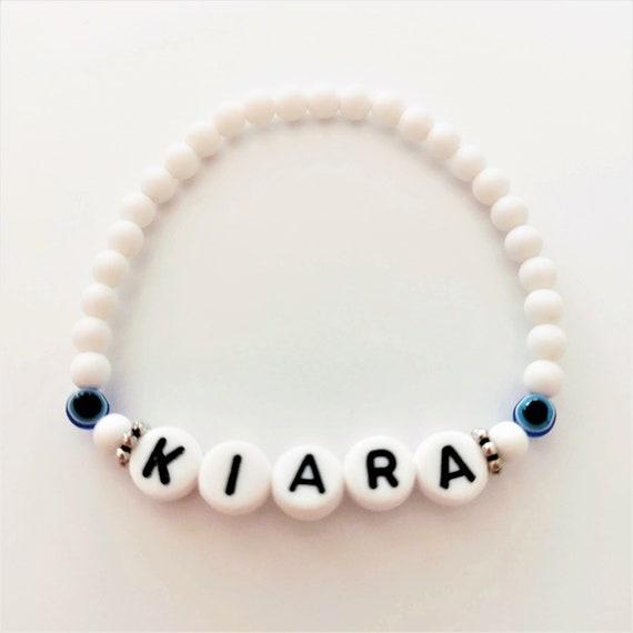Baby Kinder Armband mit Name Namens Armband Taufe Geburtsarmband Nazar Auge