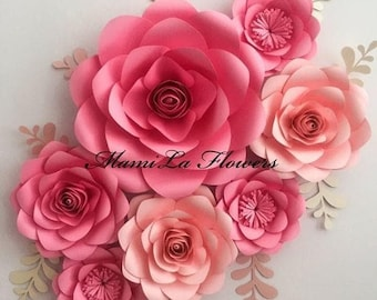 image regarding Printable Paper Flower Template named Paper bouquets template Etsy