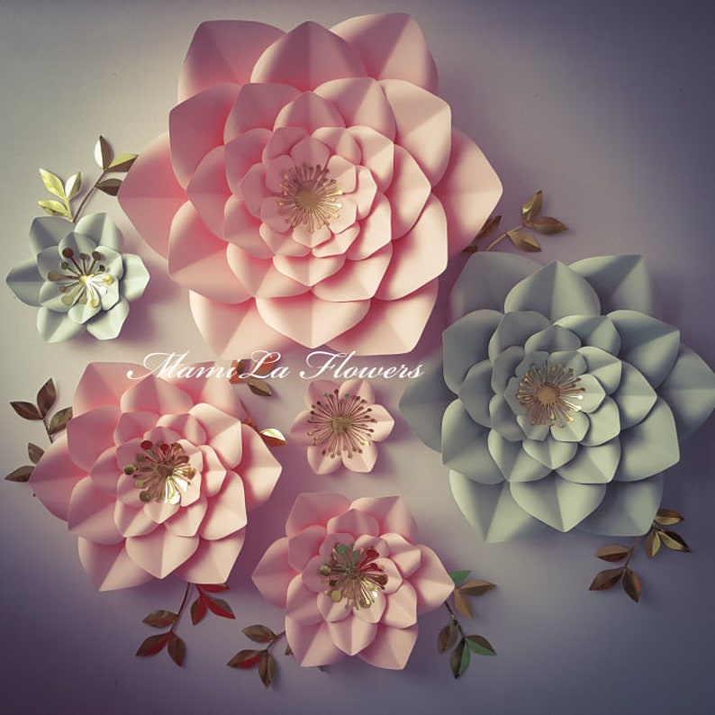 Svg Pdf Paper Flower Template 39 Printable Template Svg Paper Flower Template Cutting Machines Tem