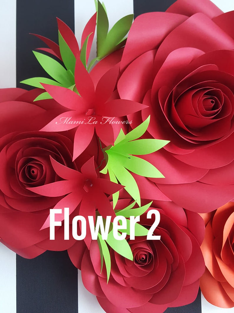 SVG Small Paper Flowers Template #62 Cutting machines Paper Flower Template SVG Paper Template.