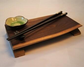 Sushi / Serving Tray in Black Walnut