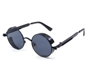 0ea954f12683 Steampunk Sunglasses Collection Retro 2019 John Lennon Style