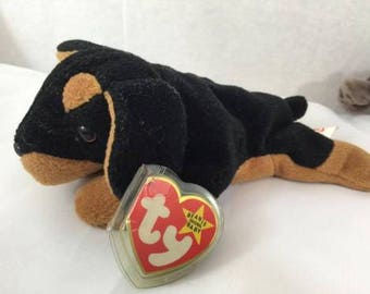 436bcaa2812 Rare Beanie Baby Doby the Doberman 4th 4th Mint Tags