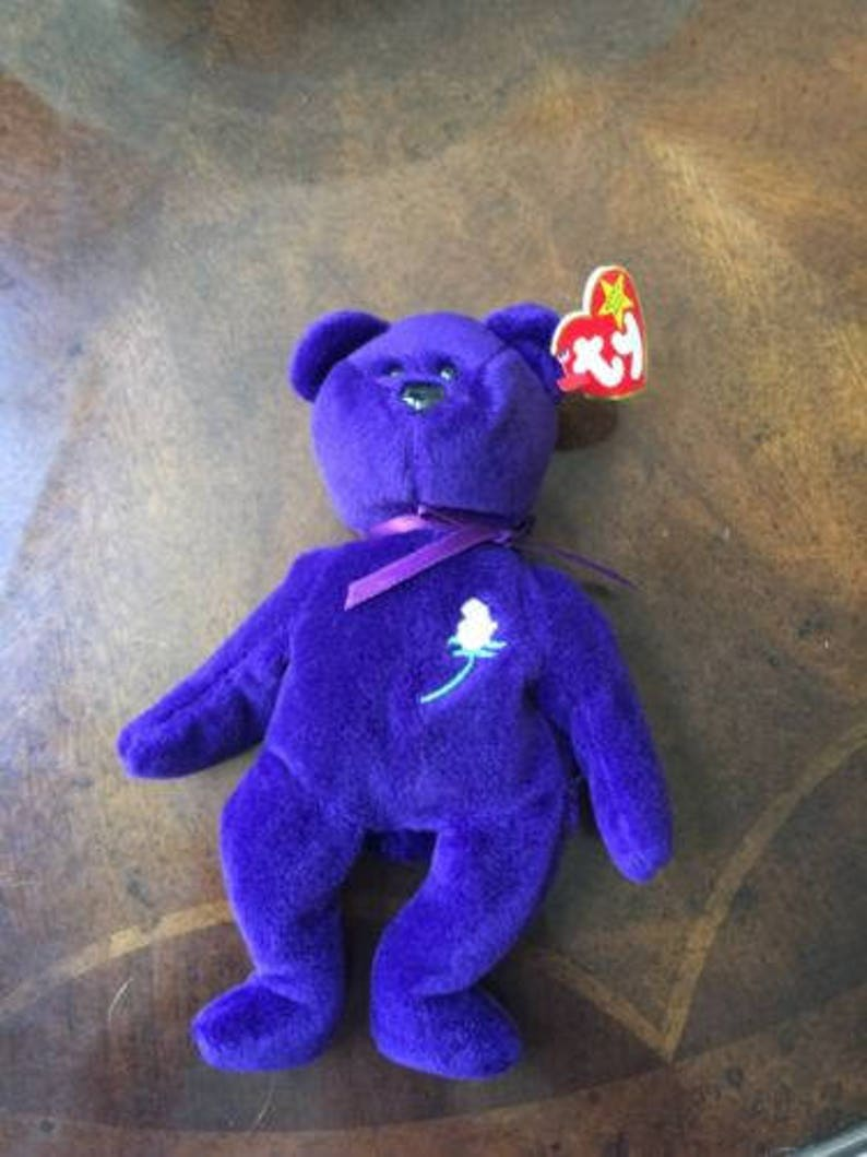 fda4500c9be Super Rare Beanie Baby Princess Diana 1st Edition Ghost