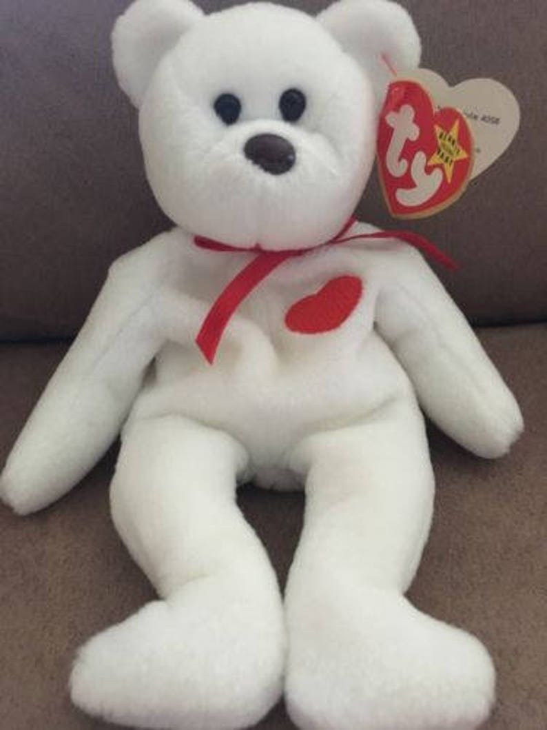 cb5a6e6705d Super Rare Beanie Baby Valentino the Bear 4th 4th Generation