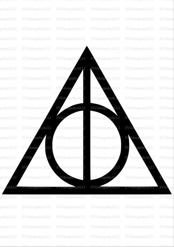 Deathly Hollows Svg Deathly Hollows Symbol Svg Harry Potter Etsy