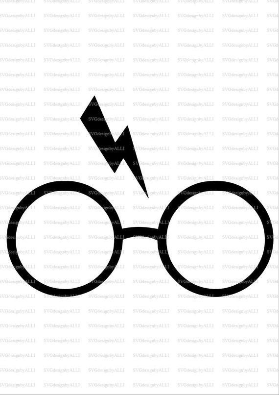 Harry Potter Glasses Lightening Bolt Svg Harry Potter Svg Etsy