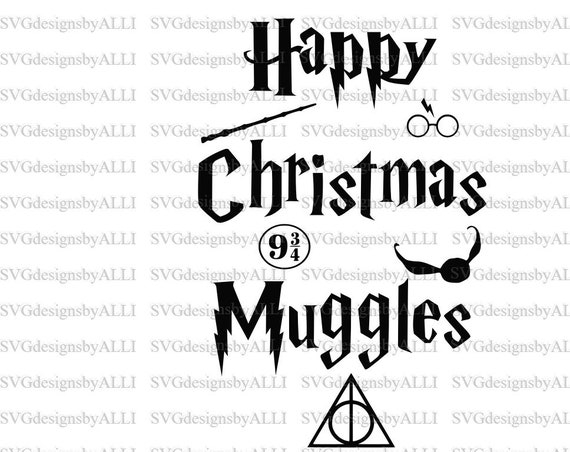 Happy Christmas Muggles Harry Potter Svg Png Etsy