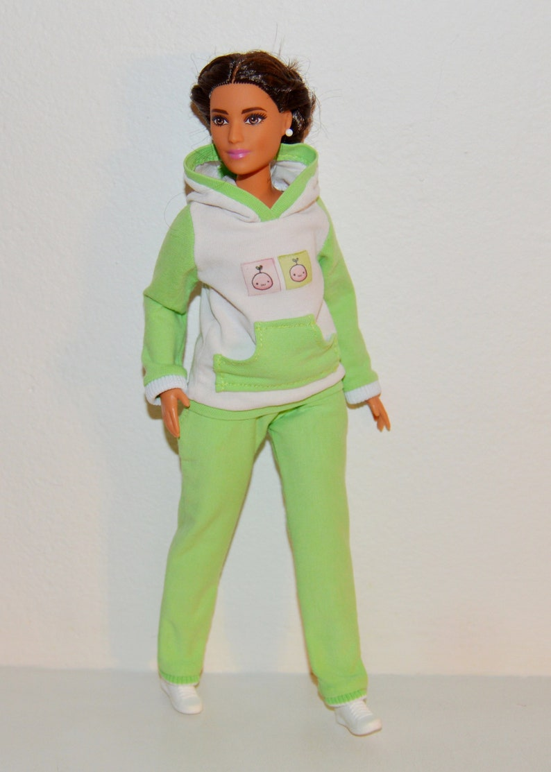 Barbie curvy sport set hoodie for barbie barbie sport pants  a203e2d03