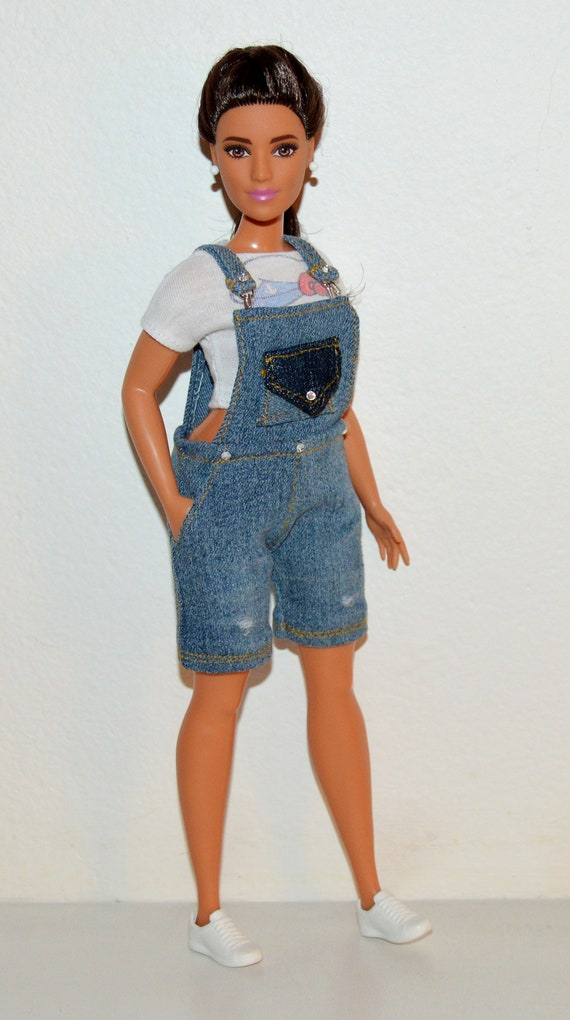 Blouse and Leggings for Dolls. №042 Clothes for Curvy Barbie Doll