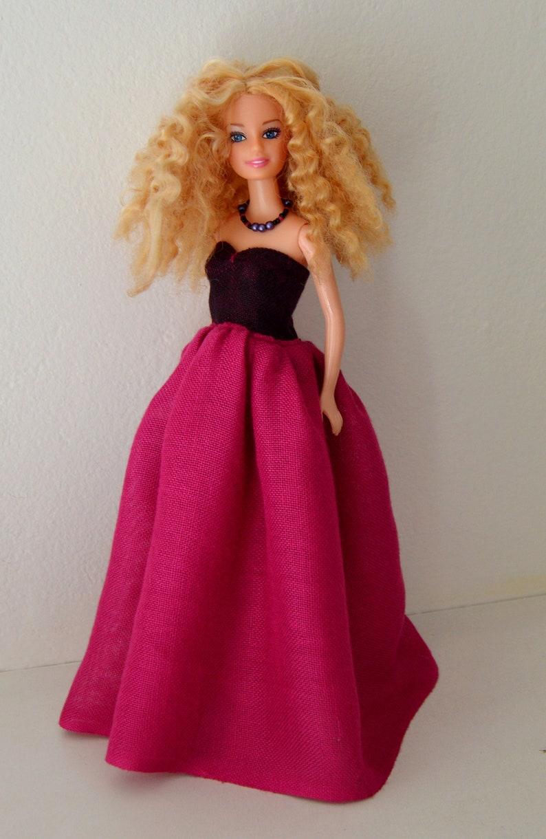 a78272bfa38b Set 4 per barbie maxi abito per barbie vestito da festa di