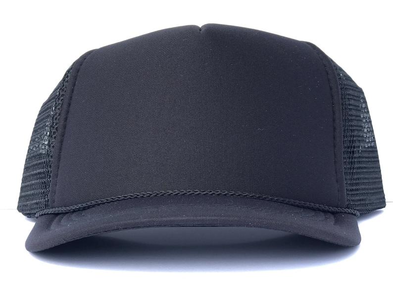 9a6d7077768 Solid Trucker black trucker hat kids trucker hat adult