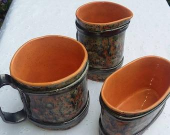 Mug, Cream and Sugar Set
