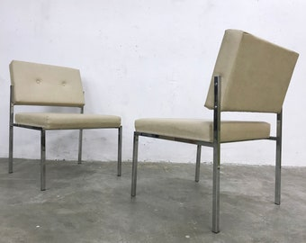 vintage 60s furniture. 1/2 Vintage Mid Century Modernist 60s 70s Easy Chairs In Chrome And Faux  Leather Or Vinyl Vintage Furniture O