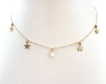 Five Star Fiesta Choker // 14k Gold Filled Necklace
