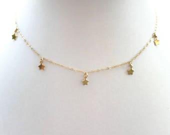 Babystars Choker // 14k Gold Filled Necklace